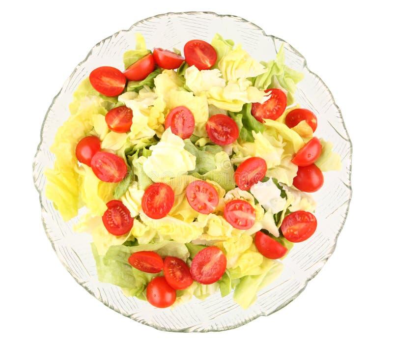 Salada verde com tomates de cereja fotos de stock