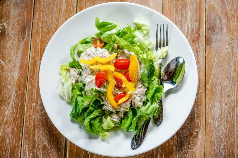 Salada verde do atum imagem de stock