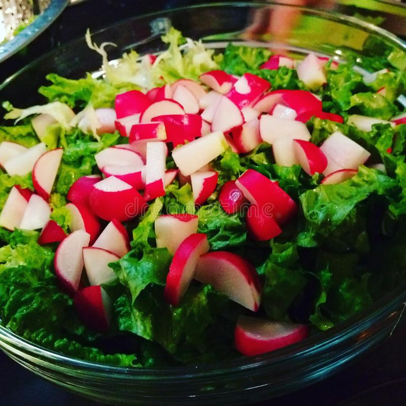 Salada verde do verão imagens de stock royalty free