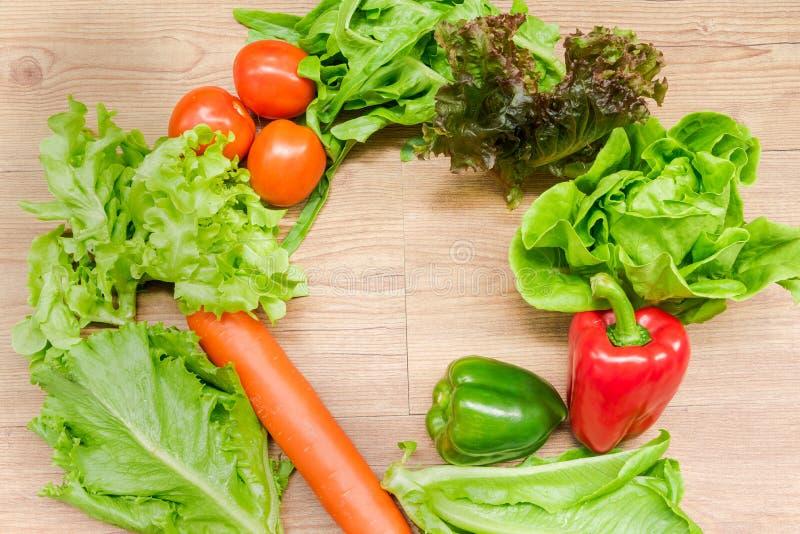 Saladas vegetais da mola foto de stock