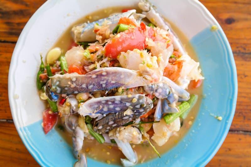 Salade épicée de crabe image libre de droits