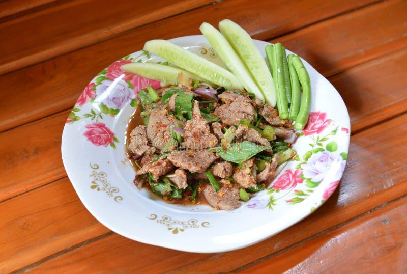 Salade épicée de foie photographie stock