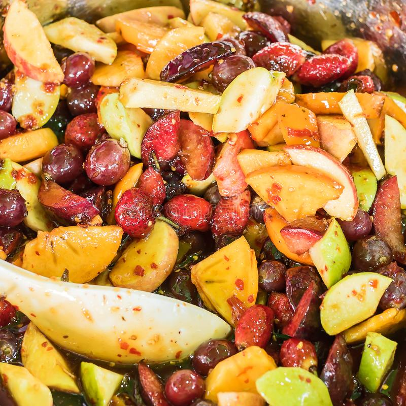 Salade épicée de fruit mélangé photos libres de droits