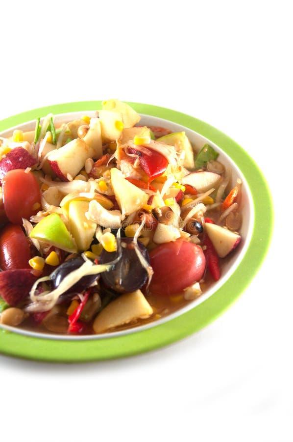 Salade épicée de fruit mélangé images libres de droits