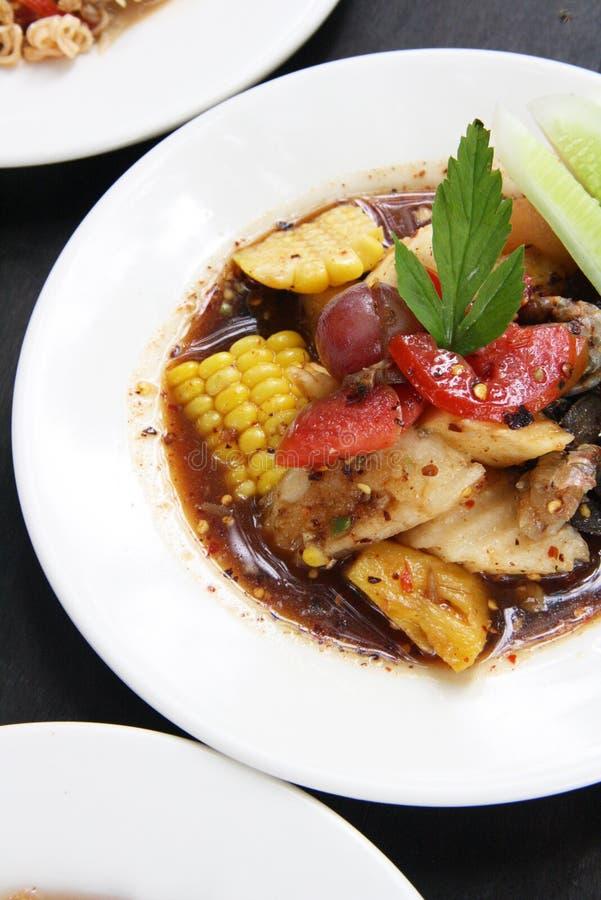 Salade épicée de fruit mélangé, nourriture thaïlandaise photo libre de droits