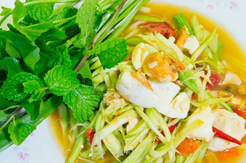 Salade épicée de mangue image libre de droits
