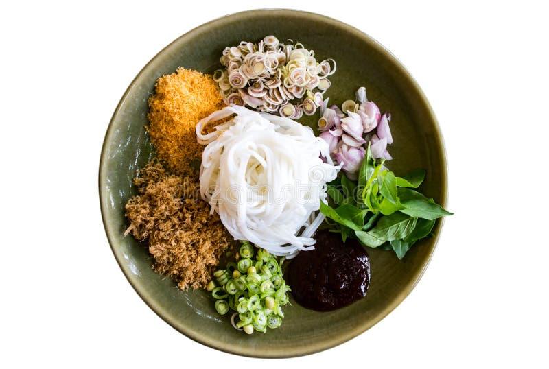 Salade épicée de vermicellis de riz photo libre de droits
