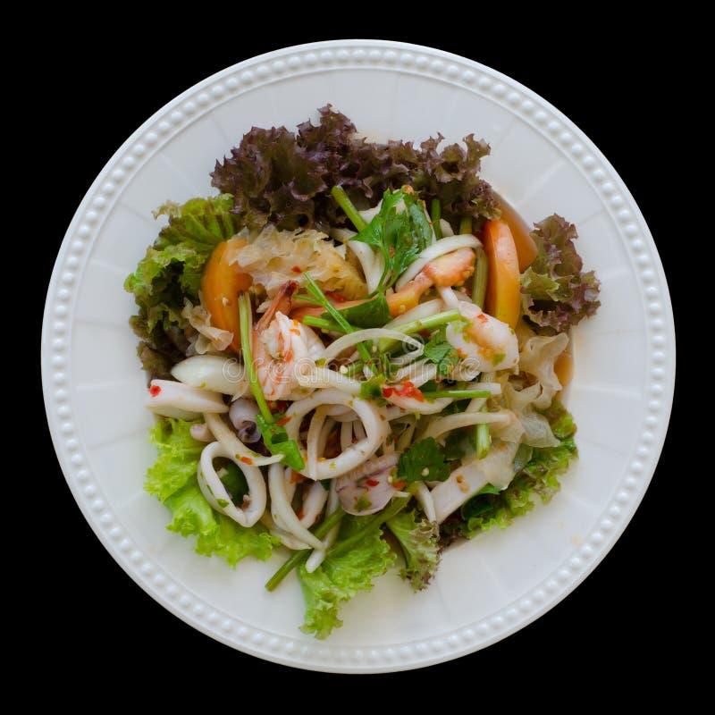 Salade épicée et aigre thaïlandaise de fruits de mer photos stock
