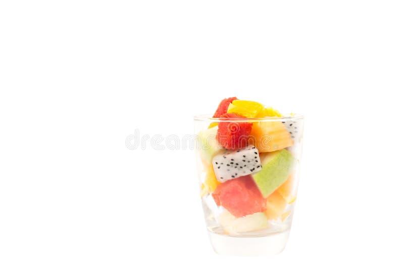 Salade actuelle saine de fruit frais dans le clippinpath images libres de droits