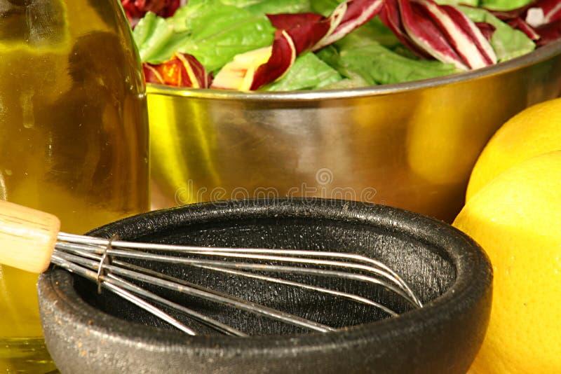 Salade & het kleden zich royalty-vrije stock afbeeldingen