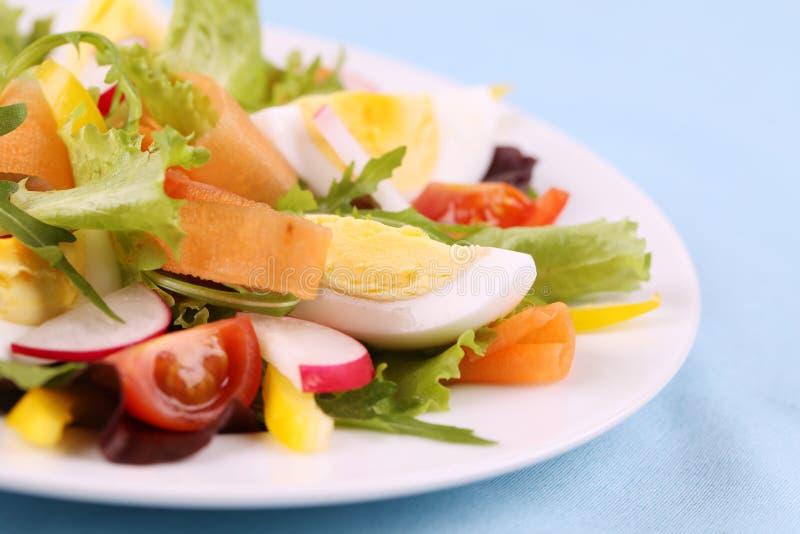 Salade avec des oeufs image libre de droits