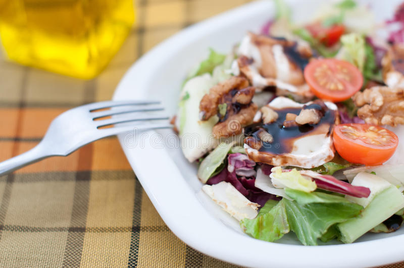 Salade avec du fromage image stock