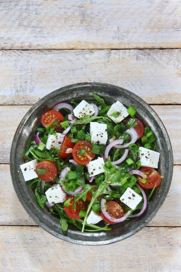 Salade avec l'arugula images stock