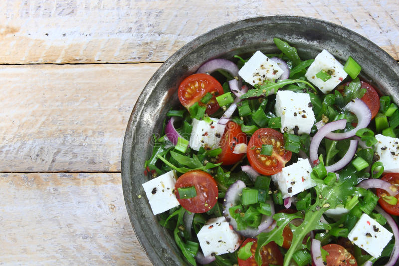 Salade avec l'arugula image stock