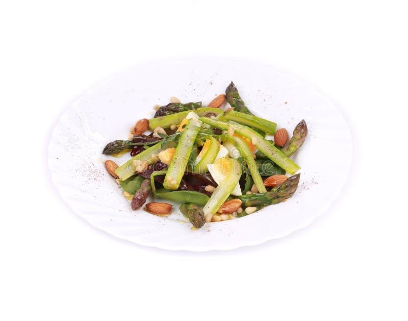Salade avec l'asperge photographie stock libre de droits