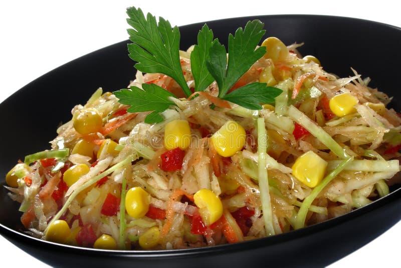 Salade avec le chou frais image libre de droits