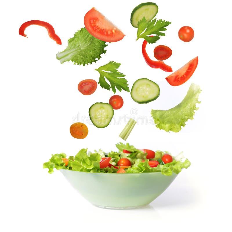 Salade avec le légume photographie stock