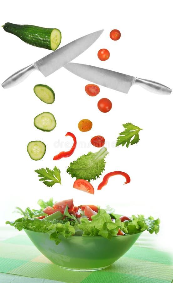 Salade avec le légume images stock