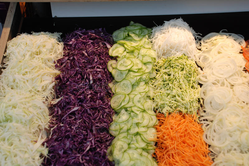 Salade coupée en tranches photo libre de droits
