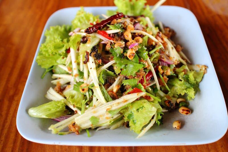 Salade croustillante de mangue de vert de poisson-chat photos stock