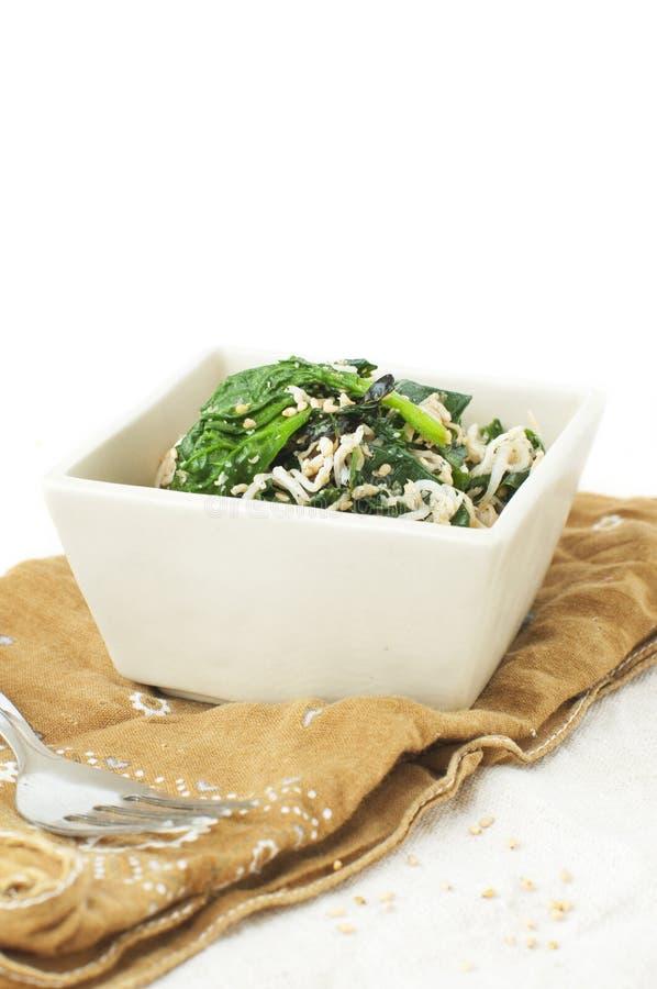 Salade d'épinards photo stock