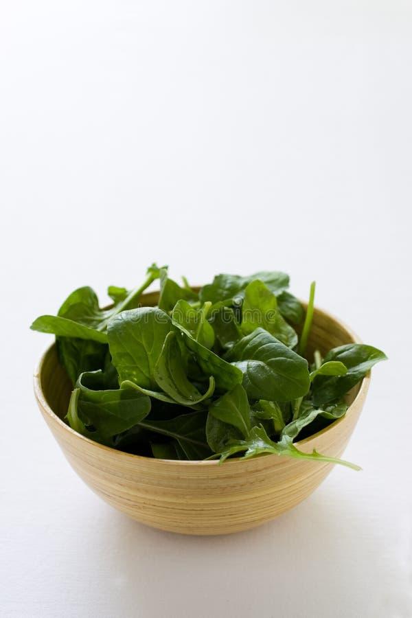 Salade d'épinards images libres de droits