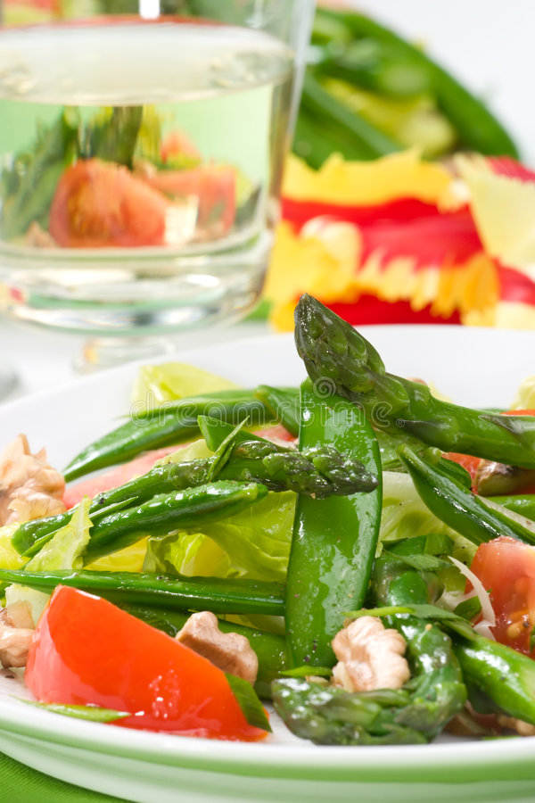 Salade d'asperge images libres de droits
