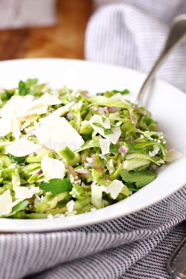 Salade d'Asperges rasées photographie stock