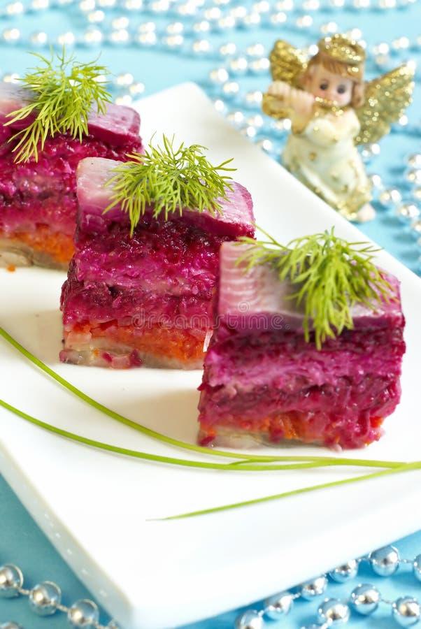 Salade d'harengs image libre de droits