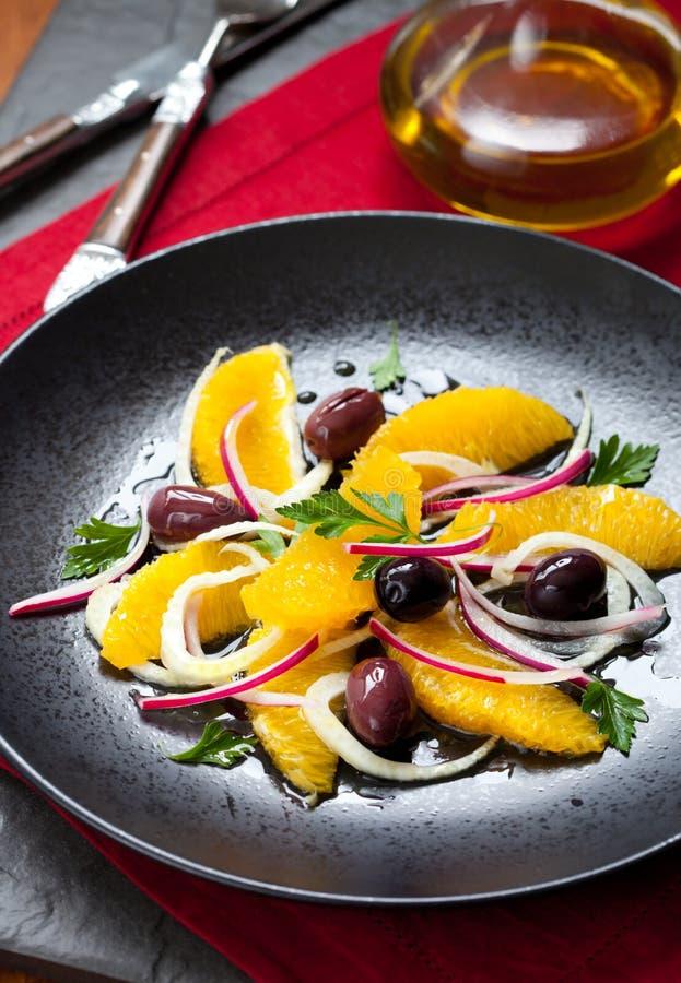 Salade d'orange et de fenouil images libres de droits