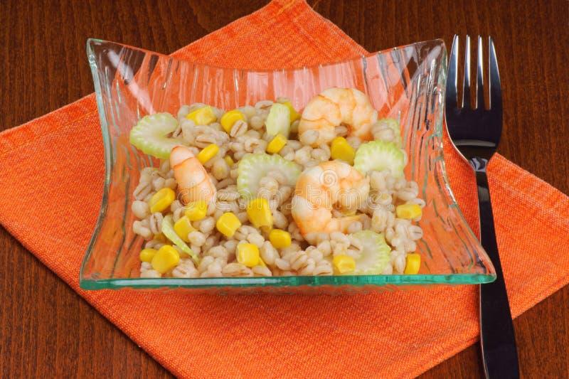 Salade d'orge perlée image stock