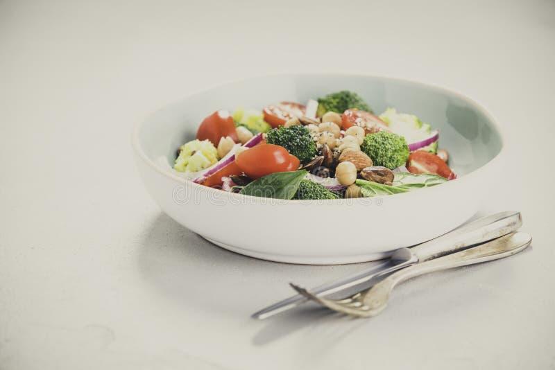 Salade de amplification d'énergie saine de vegan image stock