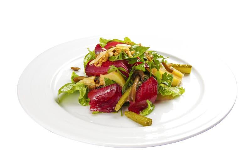 Salade de betterave Un plat polonais traditionnel photo stock