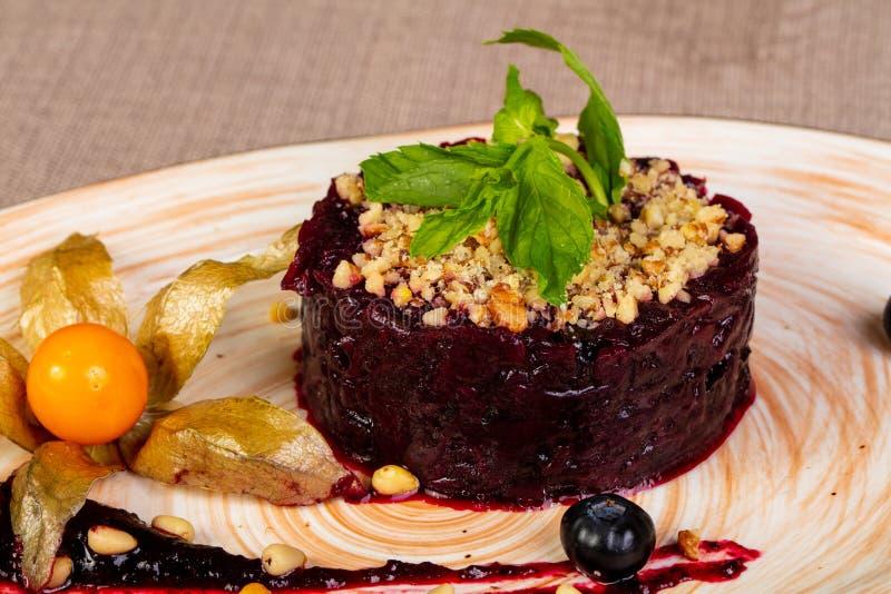 Salade de betteraves de Vegan photos libres de droits