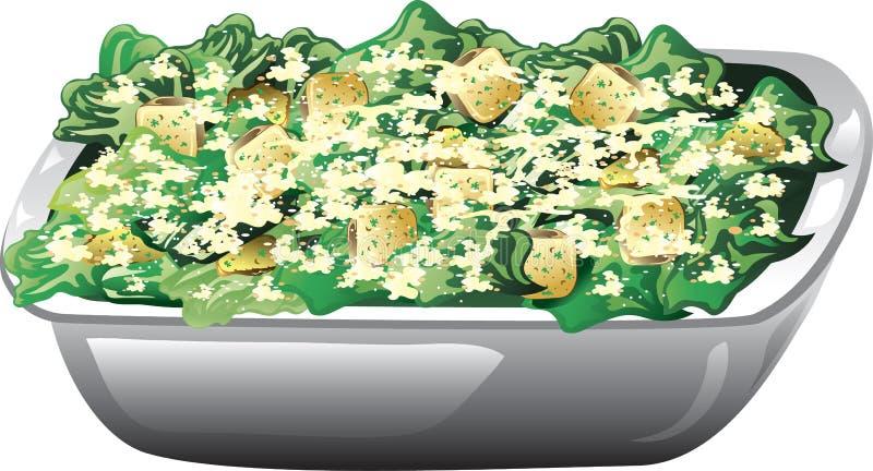 Salade de César illustration libre de droits