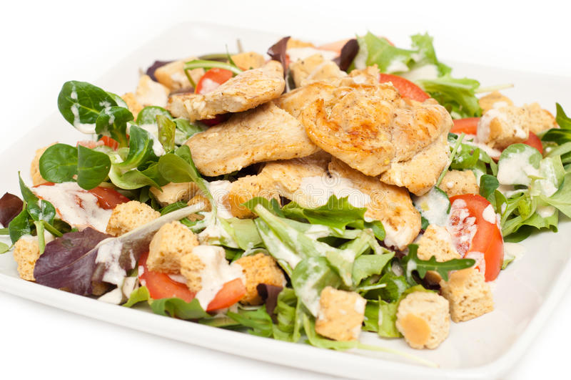 Salade de César d'une plaque photo stock