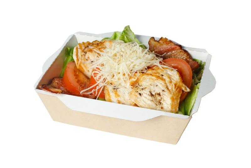 Salade de César dans la boîte photo libre de droits