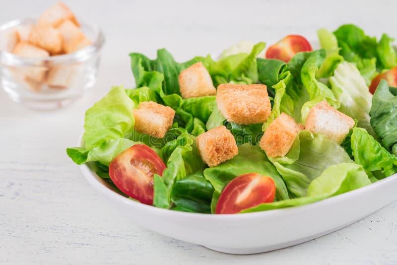 Salade de César dans la cuvette images libres de droits