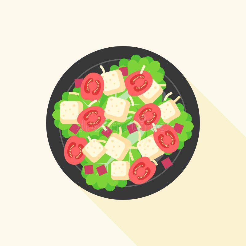 Salade de César dans la cuvette illustration stock
