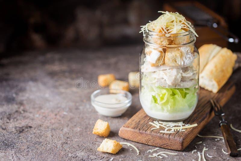 Salade de César fraîche photographie stock libre de droits