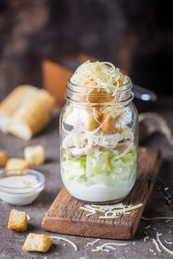 Salade de César fraîche photo stock