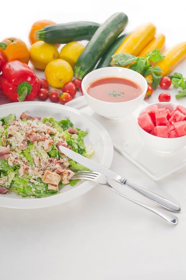 Salade de César fraîche images stock