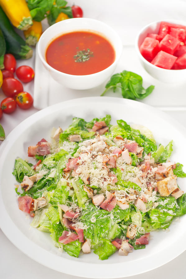 Salade de César fraîche image libre de droits