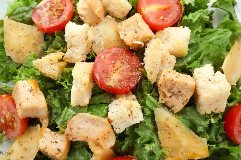 Salade de César savoureuse, plan rapproché images stock