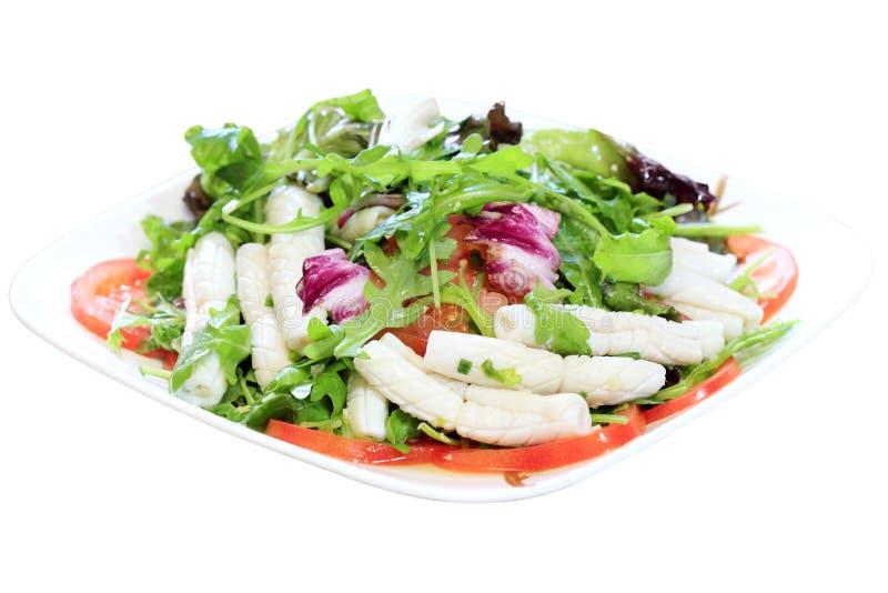 Salade de calmar de tube photographie stock libre de droits