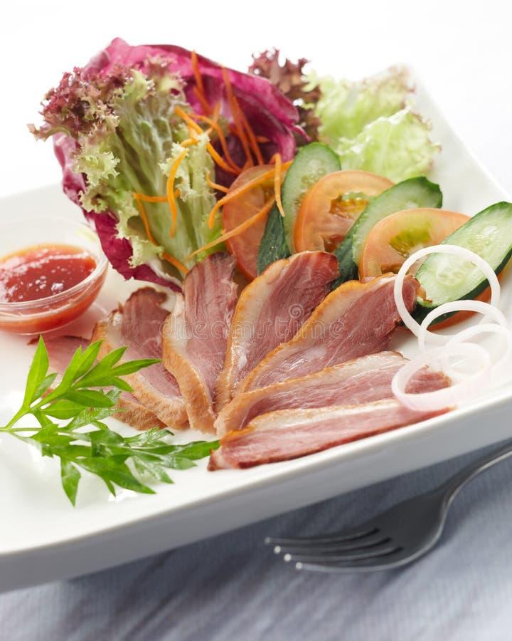Salade de canard photographie stock