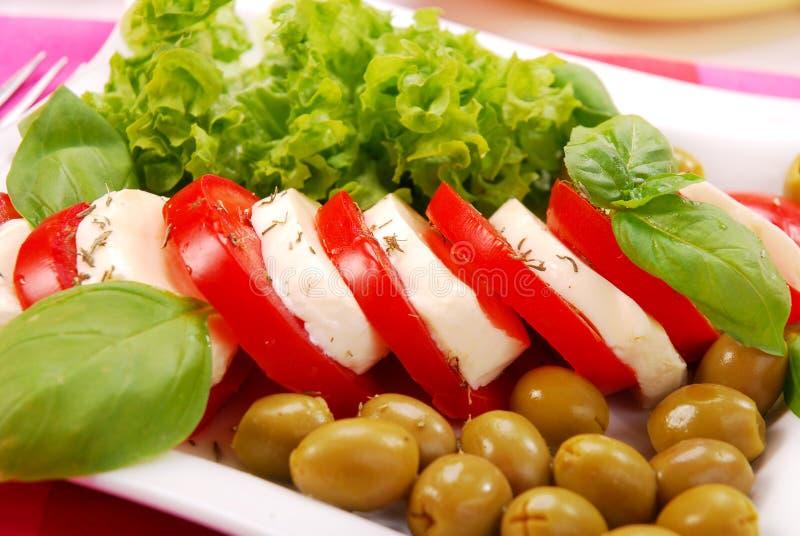 Salade de Caprese photo stock