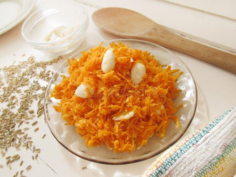 Salade de carotte image stock