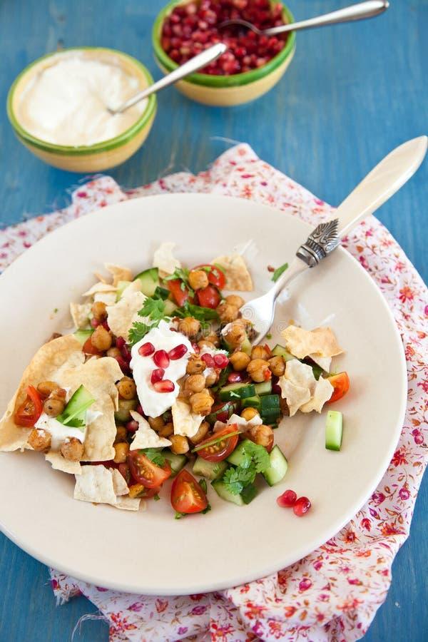 Salade de causerie de Chana photo libre de droits