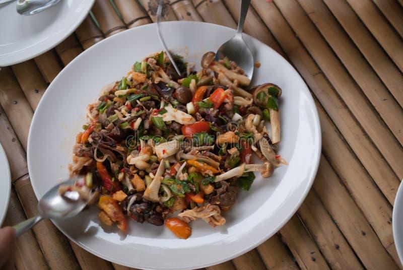 Salade de champignon photo stock